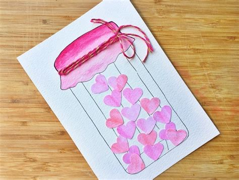 Step By Step Handmade Cards - jar of hearts handmade card tutorial 183 how to paint a