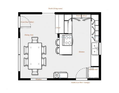 create own floor plan kitchen floor plans before all rebuilding kitchen project started home and dining room