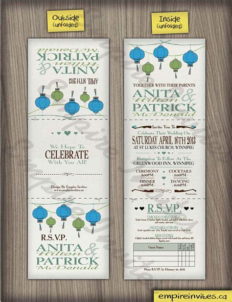 affordable wedding invitations edmonton custom lantern wedding invitations canada empire invites