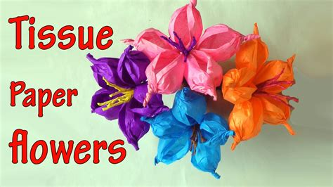 Crafts To Make With Tissue Paper - diy crafts how to make tissue paper flowers easy
