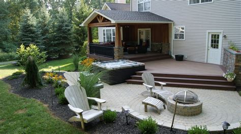wood deck with paver patio sparta new jersey deck builder deckremodelers