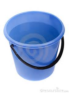 Drink Faucet Water Full Plastic Bucket Stock Image Image 17500481