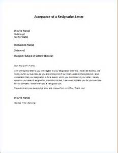 Letter Of Acceptance Of Resignation by Vacation Or Leave Of Absence Approval Letter Writeletter2