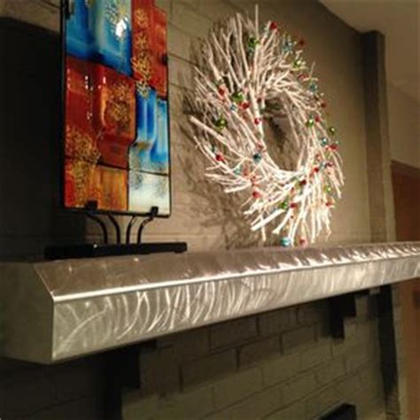 Stainless Steel Fireplace Mantel Shelf by Custom Brushed Stainless Steel Fireplace Mantels And