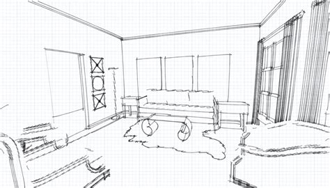 room sketch private residence jessica doyle archinect
