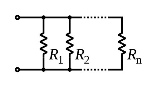 three resistors are connected in parallel with a 12v battery file resistors in parallel svg wikimedia commons