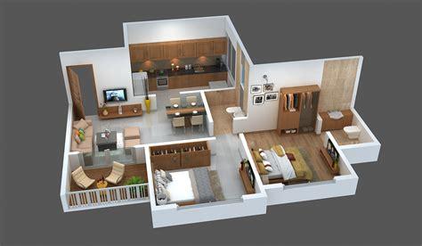3d floor plan 2bhk buy 2 bhk affordable flats in wakad pune floor plans