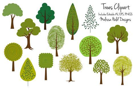 tree clipart tree clipart 2 illustrations creative market