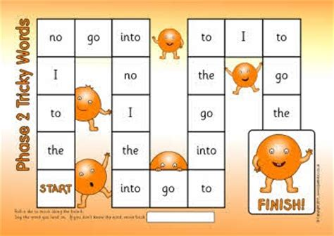 printable phonics games year 1 printable tricky words board games for uk phases 2 5