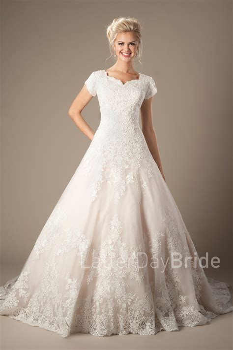 Discount Lds Wedding Dresses by Modest Mormon Wedding Dresses Discount Wedding Dresses