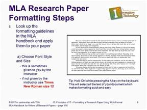 Sle Pages Of A Research Paper In Mla Style by Formatting A Research Paper Ppt