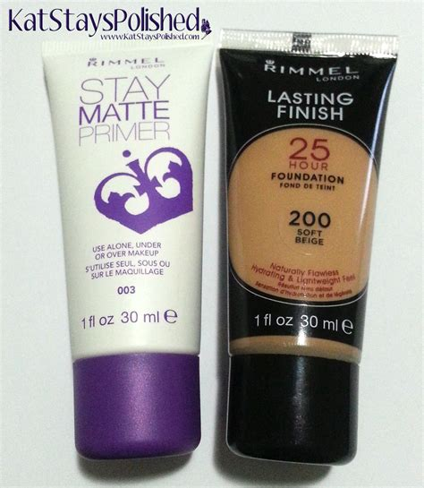 Rimmel Stay Matte Primer stays polished with a dash of