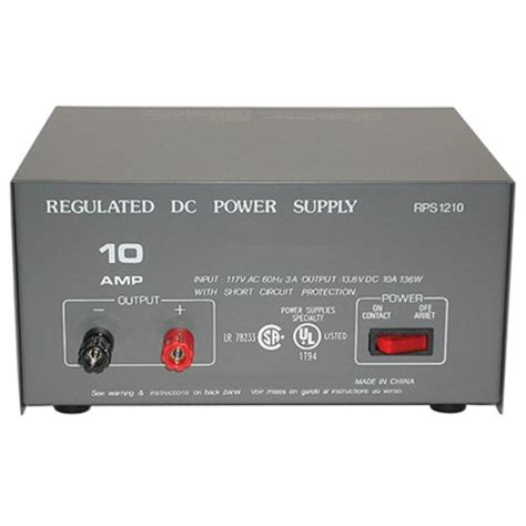 12 volt bench power supply rps 1210ul power supply 12 vdc 10a 12a