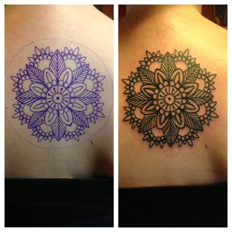 iron lotus tattoo shoulder mandala by dave yelp