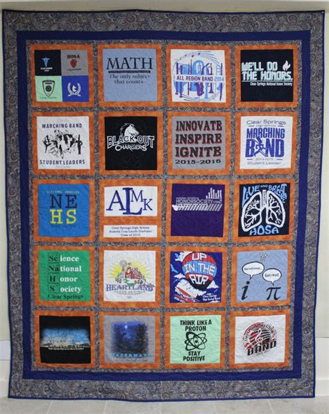 T Shirt Quilt Blocks by T Shirt Quilt With 20 Blocks Custom Embroidery