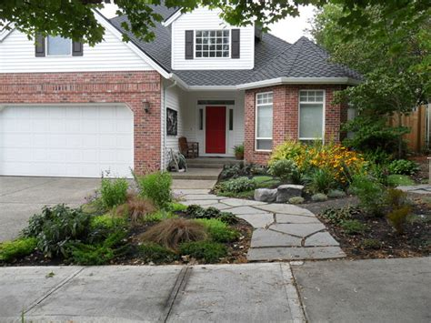 curb appeal traditional landscape portland by plan