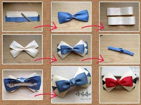 how to make pretty bow tie hair pin step by step diy tutorial instructions how to instructions