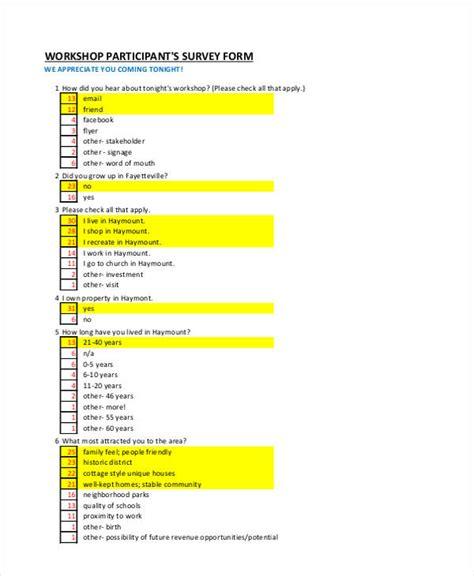 14 Sle Workshop Evaluation Forms Participant Evaluation Form Templates