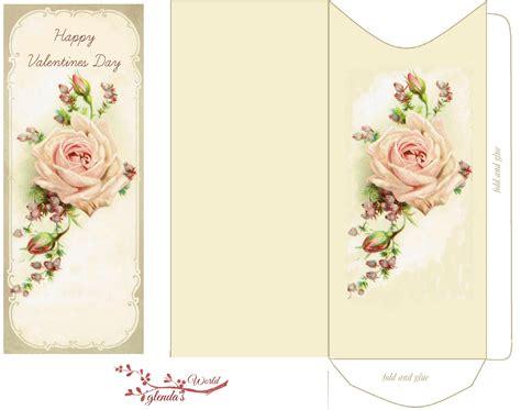 free printable birthday cards roses glenda s world pink rose valentine card