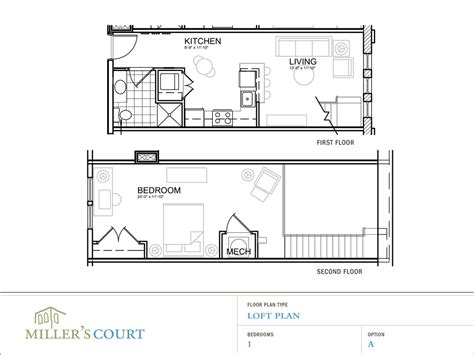 1 Bedroom With Loft Floor Plans | one bedroom house plans with loft one bedroom open floor