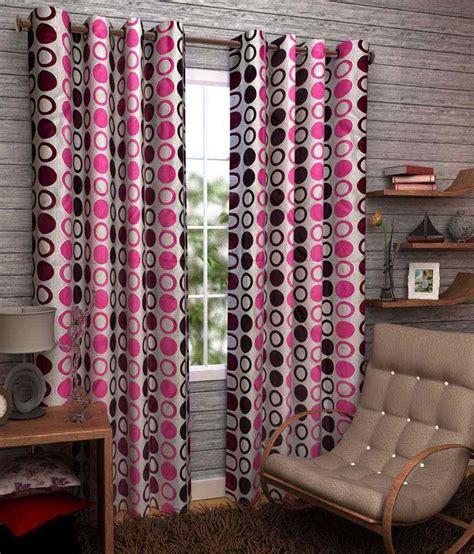 dizen set of 2 door eyelet curtain printed multi