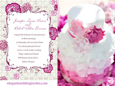 Einladungskarten Hochzeit Pink by Purple And Pink Wedding Invitations And Wedding Ideas