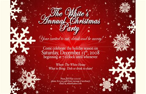 christmas invite wording for the office template invitation templates free template resume builder