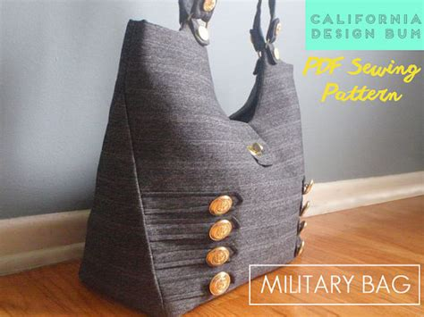 army bag pattern military handbag sewing pattern modern bag for weekend bag