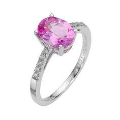 Tempat Cd Oval Single S Pink sapphire ring on pink sapphire rings