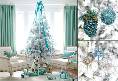 turquoise and white christmas tree decoration 2 bla bla