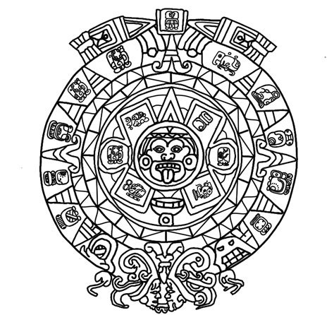 mayan coloring pages pdf mayan mythology colouring book for adults by leptir house