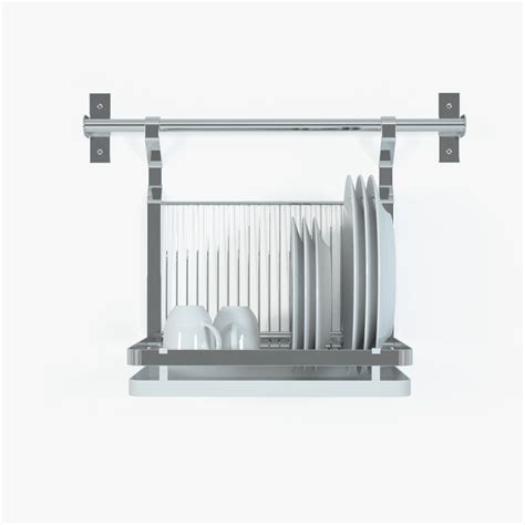 ikea dish rack ikea grundtal dish drainer 3d models cgtrader com