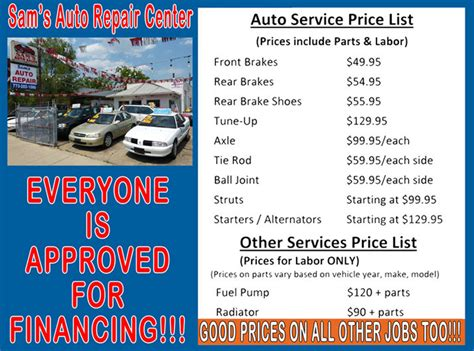 List Of Automotive Services by 25 Awesome List Of Auto Repair Around Tallahassee Dototday