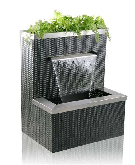 hcm malacca rattan planter cascading water feature