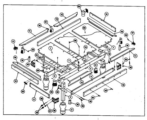 pool table parts diagram harvard pool table parts model 190 sears partsdirect