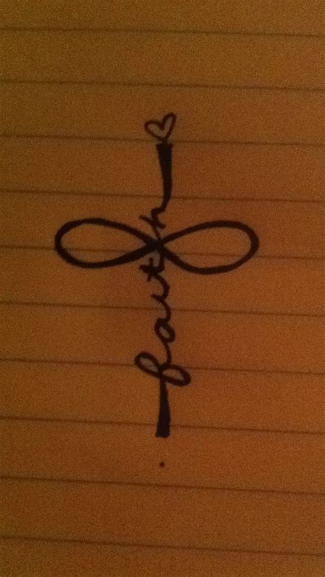 infinity with cross tattoo another sweet idea infinity faith cross
