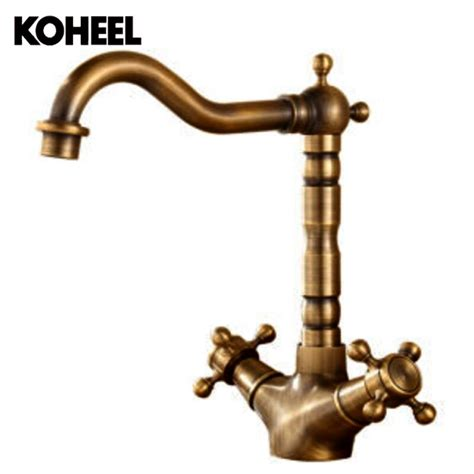 single lever kitchen faucets 2018 2018 high quality antique brass material bronze and cold single lever kitchen faucet sink