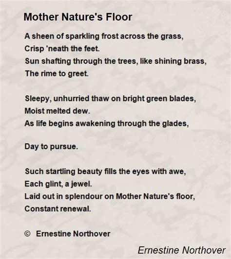 nature s lullaby fills the books nature s floor poem by ernestine northover poem