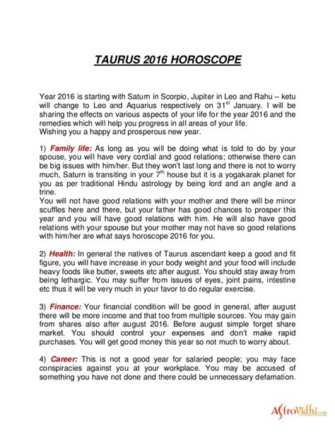 new year 2016 horoscope taurus taurus 2016 horoscope
