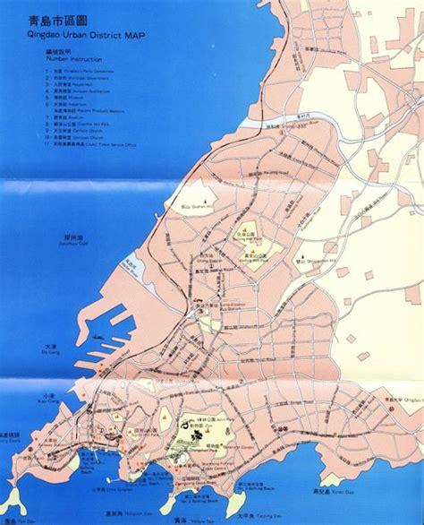 qingdao map map of qingdao