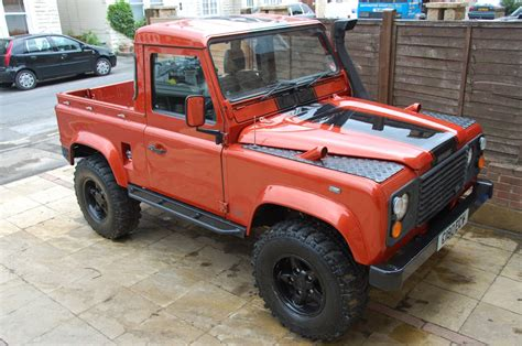 burnt orange range rover 1985 land rover defender 90