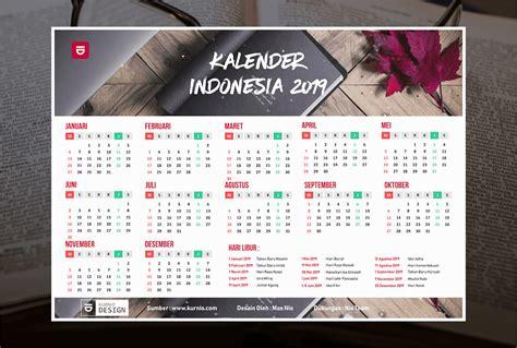 Kalender 2018 Indonesia Vector Kalender 2019 Vektor Lengkap Tanggal Merah Hijriyah Jawa