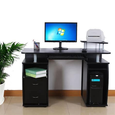 Home Office Desk Monitors Pc Computer Desk Table Workstation Monitor Printer Shelf