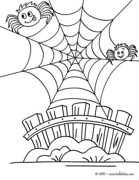 funny spider coloring page humoristic spiderweb coloring pages hellokids com