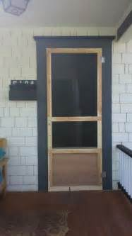 make a cheap custom screen door for your porch