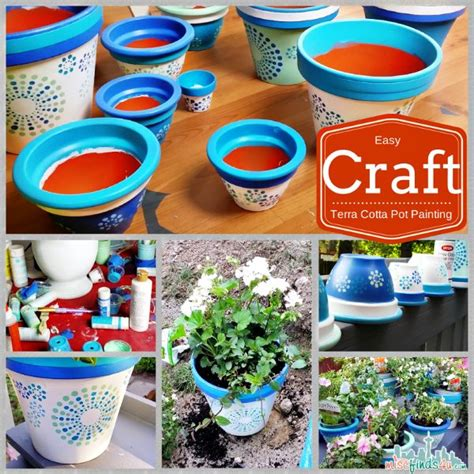 terra cotta pot crafts how to paint terracotta pots easy summer craft diy