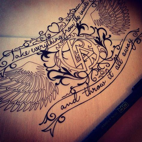 tattoo lyrics chest chest tattoo linkin park tattoo inspiration