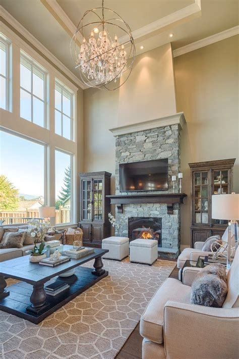 Windows Family Room Ideas 25 Best Ideas About Two Story Fireplace On Living Room Place Ideas Large