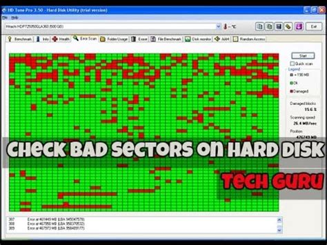 Harddisk Bad Sector how to check your disk bad sectors health