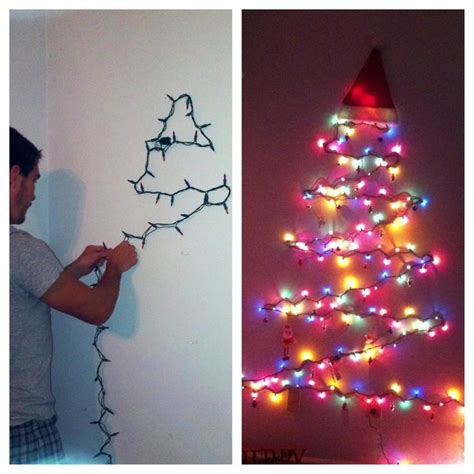 lights only wall tree project first christmas tree using